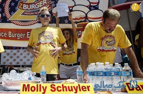 مسابقه همبرگر خوری