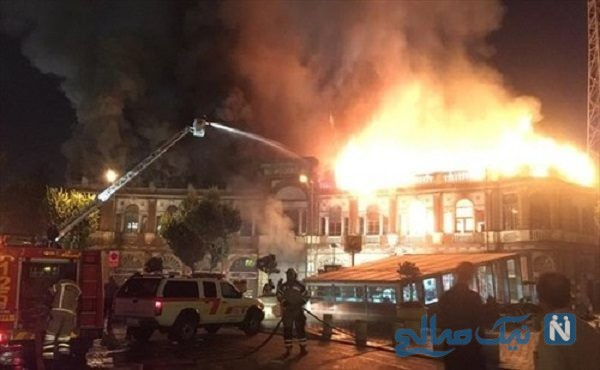 تصاویری از آخرین وضعیت میدان حسن آباد بعد از آتش سوزی