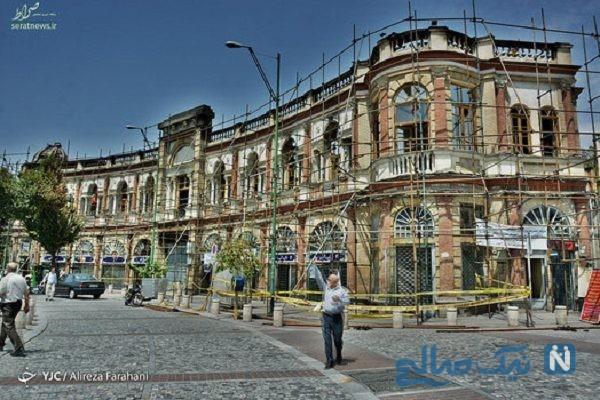 میدان حسن آباد تهران دو روز بعد از آتش سوزی