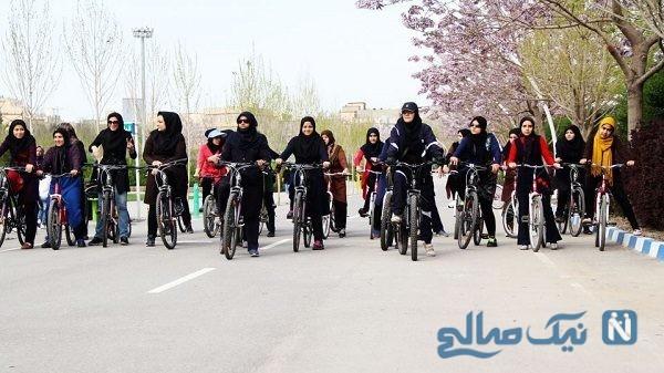 افتتاح پیست دوچرخه سواری بانوان در تهران|بانوان محدودیت پوششی ندارند