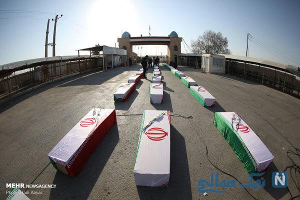 ورود ۴۴ شهید دوران دفاع مقدس از مرز شلمچه به خاک میهن اسلامی