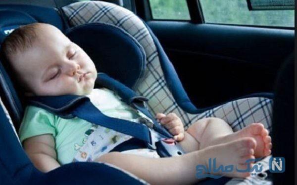 کار عجیب یک مادر بعد از گرفتار شدن کودک ۲ ساله اش در ماشین سوژه شد!