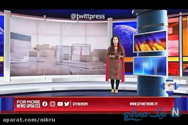 گزارشگر پاکستانی به تقلید از حسینی بای تا گردن به زیر آب رفت!