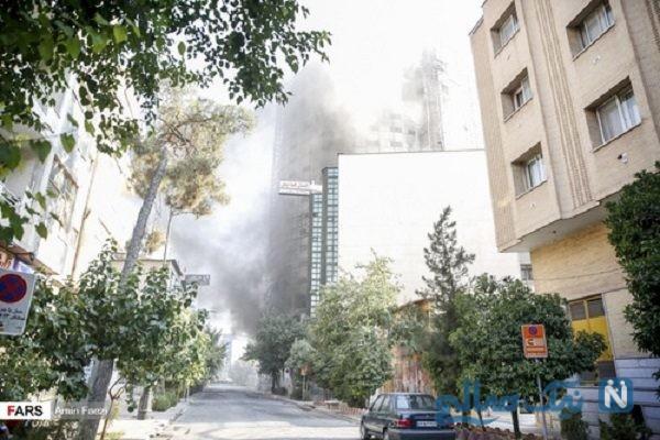 هتل آسمان شیراز ۱۱ ساعت در آتش سوخت|فاجعه پلاسکو این بار در شیراز