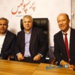 اهدای پیراهن علی پروین سلطان پرسپولیس به شهرداری تهران