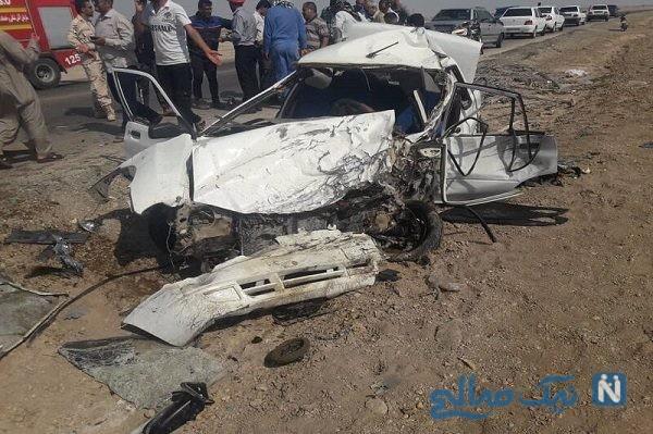 راننده پراید ۱۱ نفر از تماشاگر صحنه تصادف در اتوبان ساوه تهران را زیر گرفت!