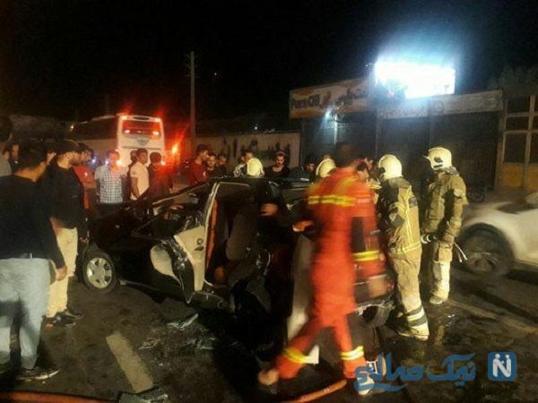 تصادف در اتوبان ساوه تهران