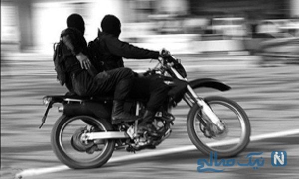 حمله موتور سوار به مامور پلیس در تهران