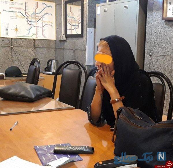 دستگیری زن جیب بر