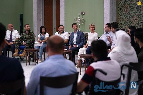 دیدار بشار اسد