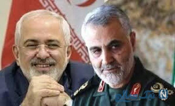 دیدار سردار قاسم سلیمانی با ظریف وزیر امور خارجه
