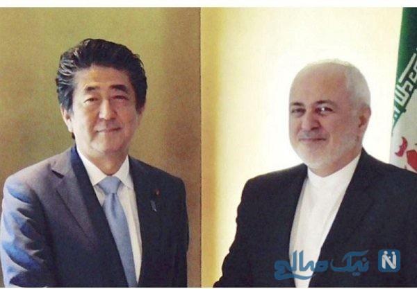 عکس هایی از دیدار ظریف با نخست وزیر ژاپن