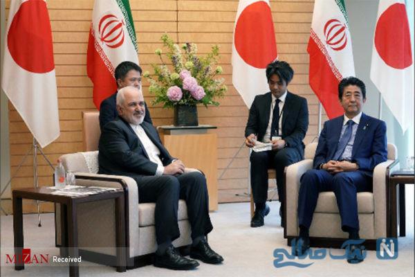 دیدار ظریف با نخست وزیر ژاپن
