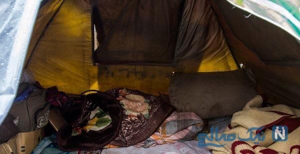 زندگی خانواده ای در زیر چادر در یکی از پارک های کرمانشاه خبرساز شد!