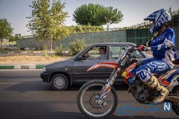 موتورسوار زن ایرانی