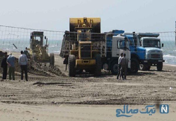 ساخت و ساز در بستر دریای خزر و گلایه یک خبرنگار