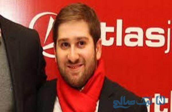 سالار آقاخانی متهم فراری در کنار بازیگر معروف ایرانی