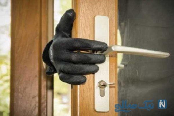 سرقت آسان و لحظه غافگیر شدن دزد توسط صاحبخانه