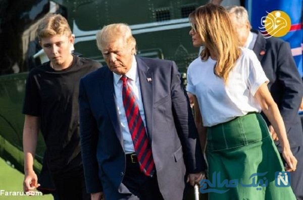 عکس جدید پسر ترامپ