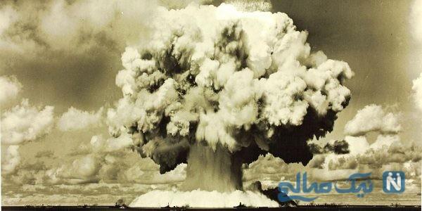 لحظه منفجر شدن بمب به جا مانده از دوران دفاع مقدس