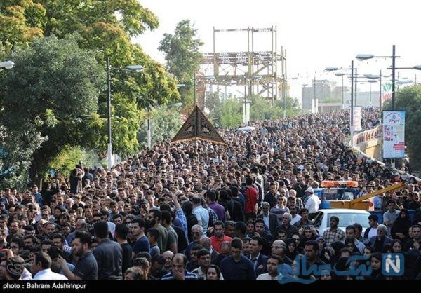 مراسم تشییع محمدباقر منصوری