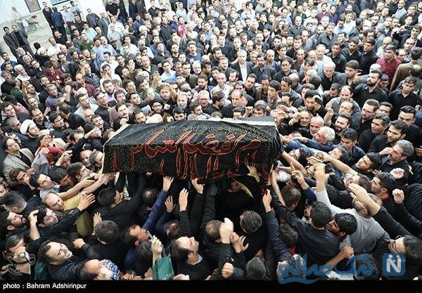 مراسم تشییع محمدباقر منصوری مداح معروف اردبیلی
