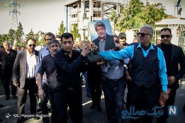 مراسم تشییع ناصر احمدی با حضور هنرمندان ایرانی