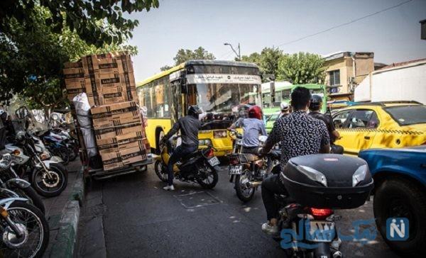 موتورسواران در تهران و بی قانونی آن ها در خیابان