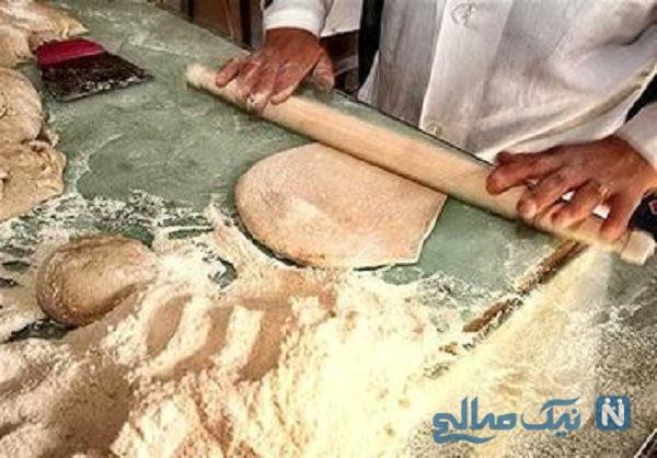 نانوایی عجیب و پخت نان به روش بسیار خطرناک