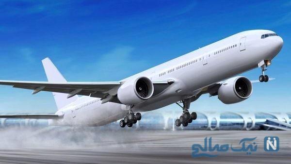 مسافران هواپیما و نظم تماشایی آن ها هنگام پیاده شدن