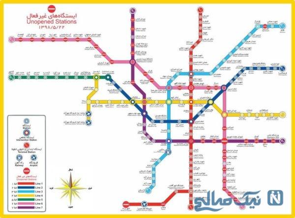 نقشه کامل مترو