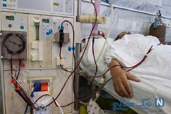 پیرمرد بیمار و وضعیت تاسف بار او در بیمارستان اهواز