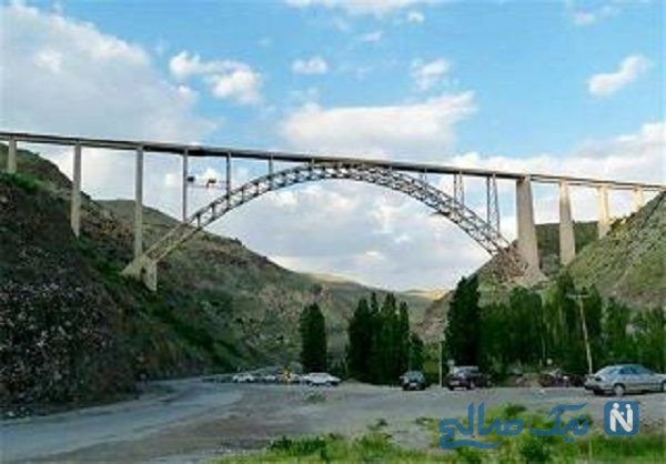 پرش بیس جامپ از روی پل قطور شهرستان خوی + فیلم