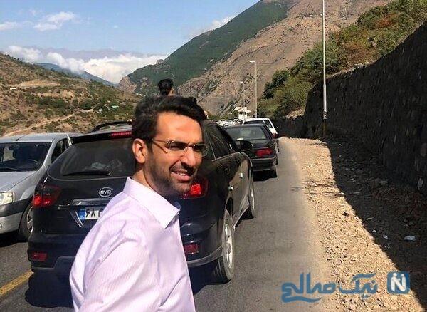 پیاده روی وزیر ارتباطات