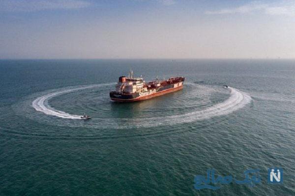 کشتی توقیف شده خارجی حامل سوخت قاچاق و اولین ویدئو از داخل آن