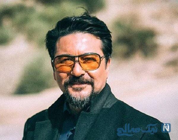 امیرحسین صدیق بازیگر ایرانی روی تخت بیمارستان
