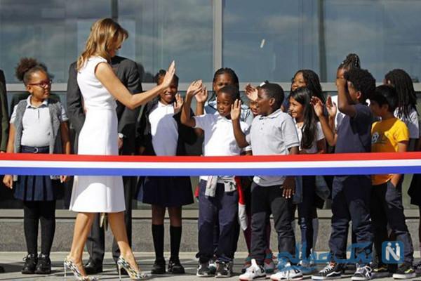آبروریزی ملانیا ترامپ بانوی اول امریکا در افتتاح بنای یادبود واشنگتن