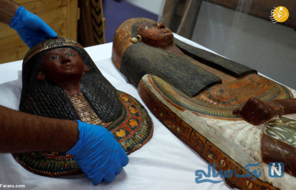 تابوت مومیایی زن و شوهر با قدمت ۳۴۰۰ سال