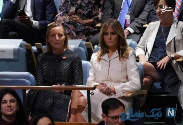 عکس از ترامپ و همسرش ملانیا