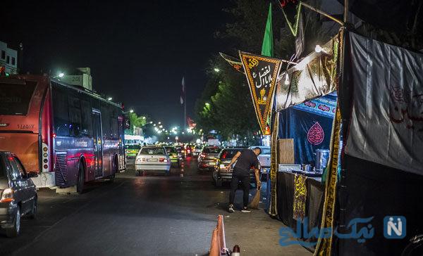 حال و هوای ماه محرم در آستانه تاسوعای حسینی در تهران