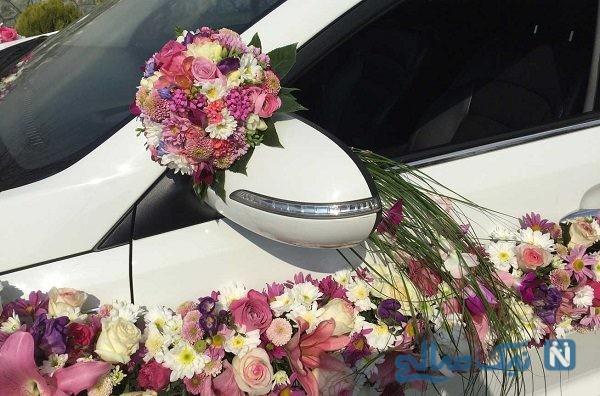 داماد پولدار با ماشین عجیبی به سراغ عروس رفت!