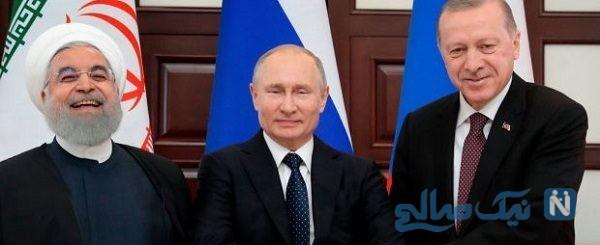 دست دادن روحانی و پوتین و اردوغان خبرساز شد!