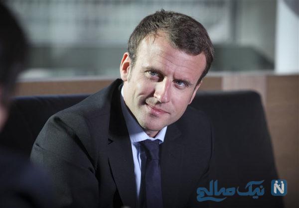 جنجال نحوه دست دادن رئیس جمهور فرانسه با امیر قطر