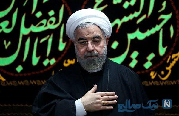 روضه خوانی حسن روحانی در جمع عزاداران حسینی در آستانه تاسوعا
