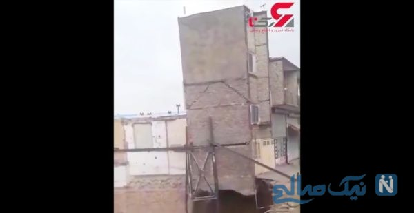 ریزش ساختمان در تبریز