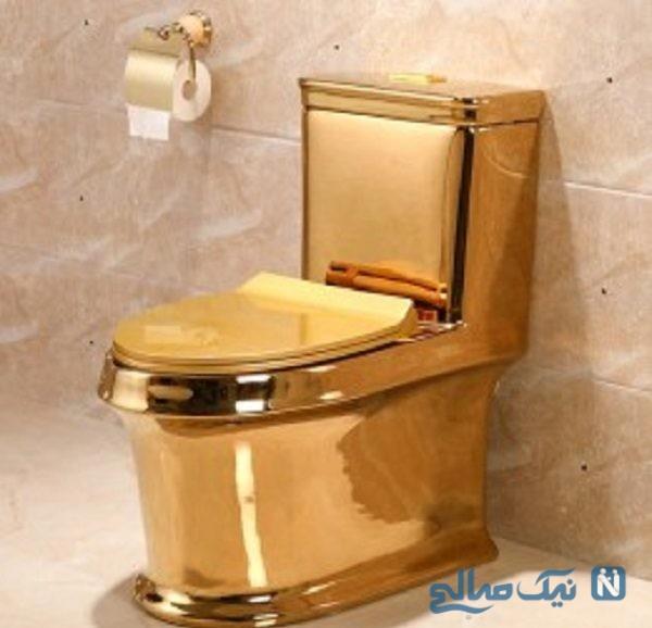 توالت فرنگی طلایی ۵ میلیون دلاری به سرقت رفت!