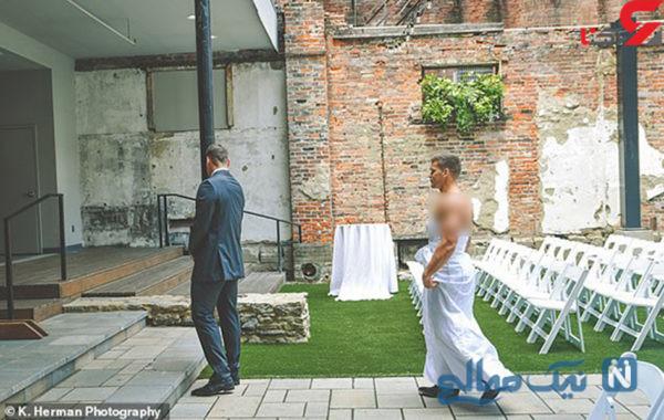 شوخی عروس با داماد