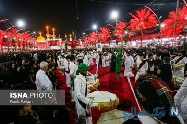 عزاداری شب تاسوعای حسینی در شهر کربلا