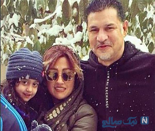 علی دایی و همسرش در روز عاشورا بر سر مزار پدر مرحومش