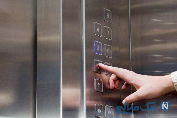 آسانسور خراب و فرار معجزه آسای دختر جوان از داخل آن
